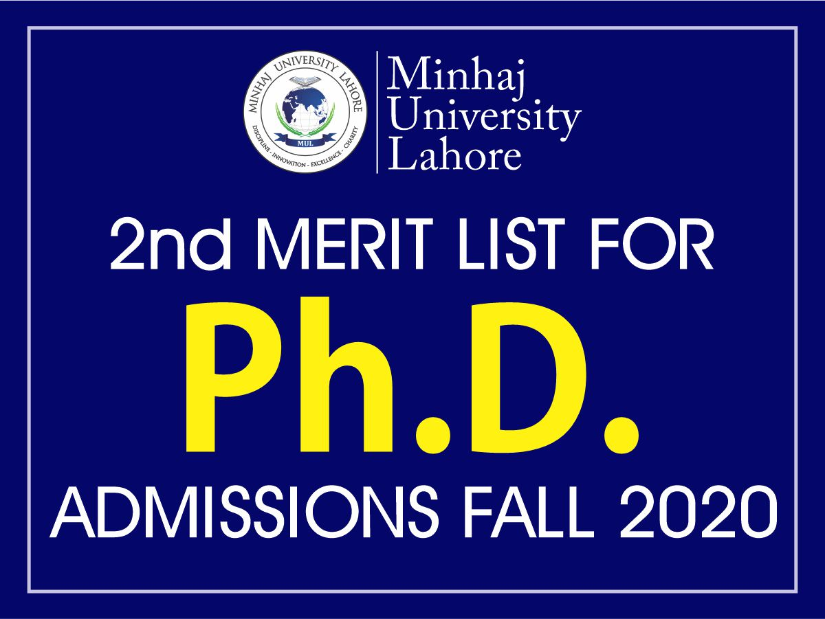 2nd Merit List for Ph.D. Admissions