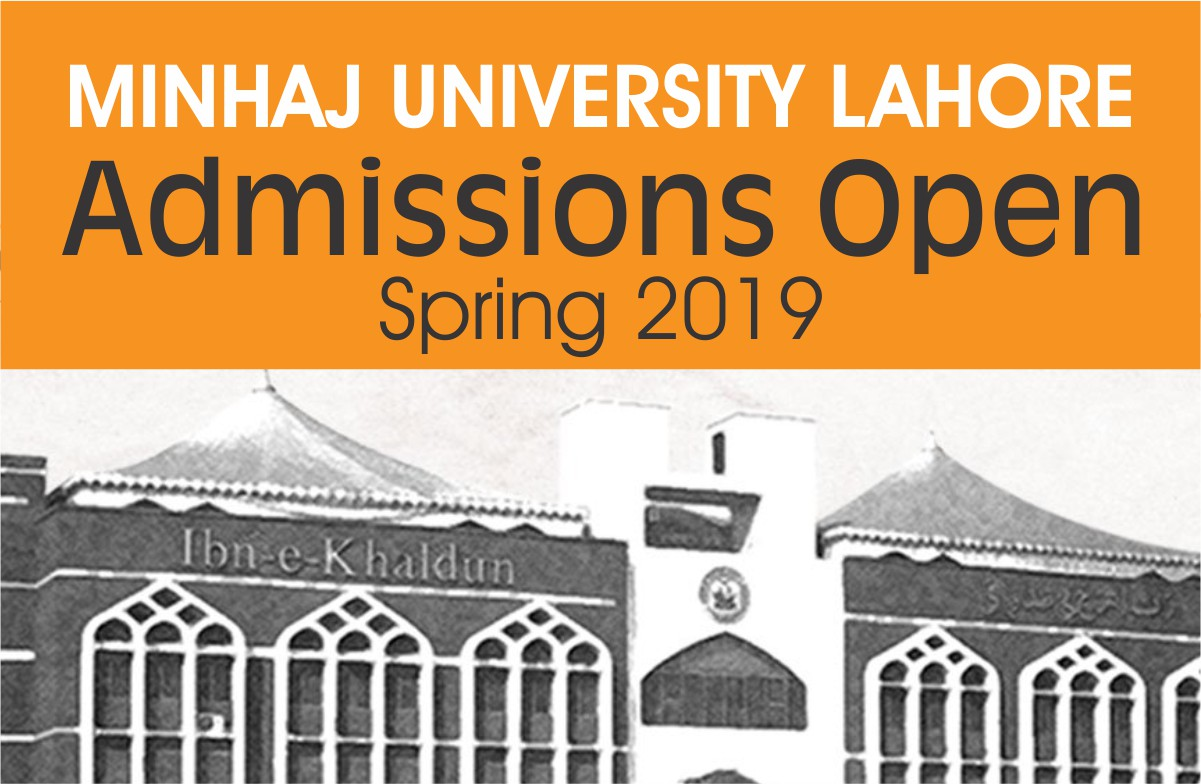 Admissions Open 2019 Spring