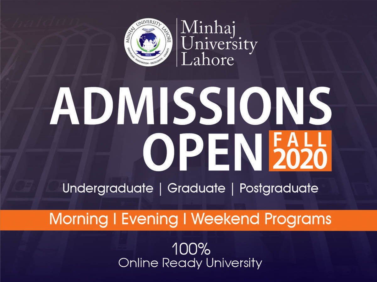 Admissions Open Fall 2020
