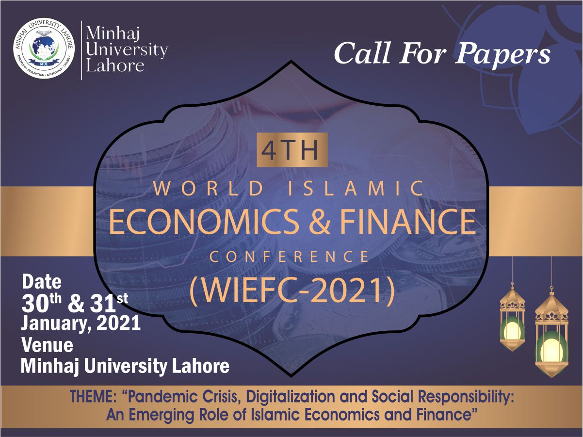 CALL FOR PAPERS (4th World Islamic Economics & Finance Conference)