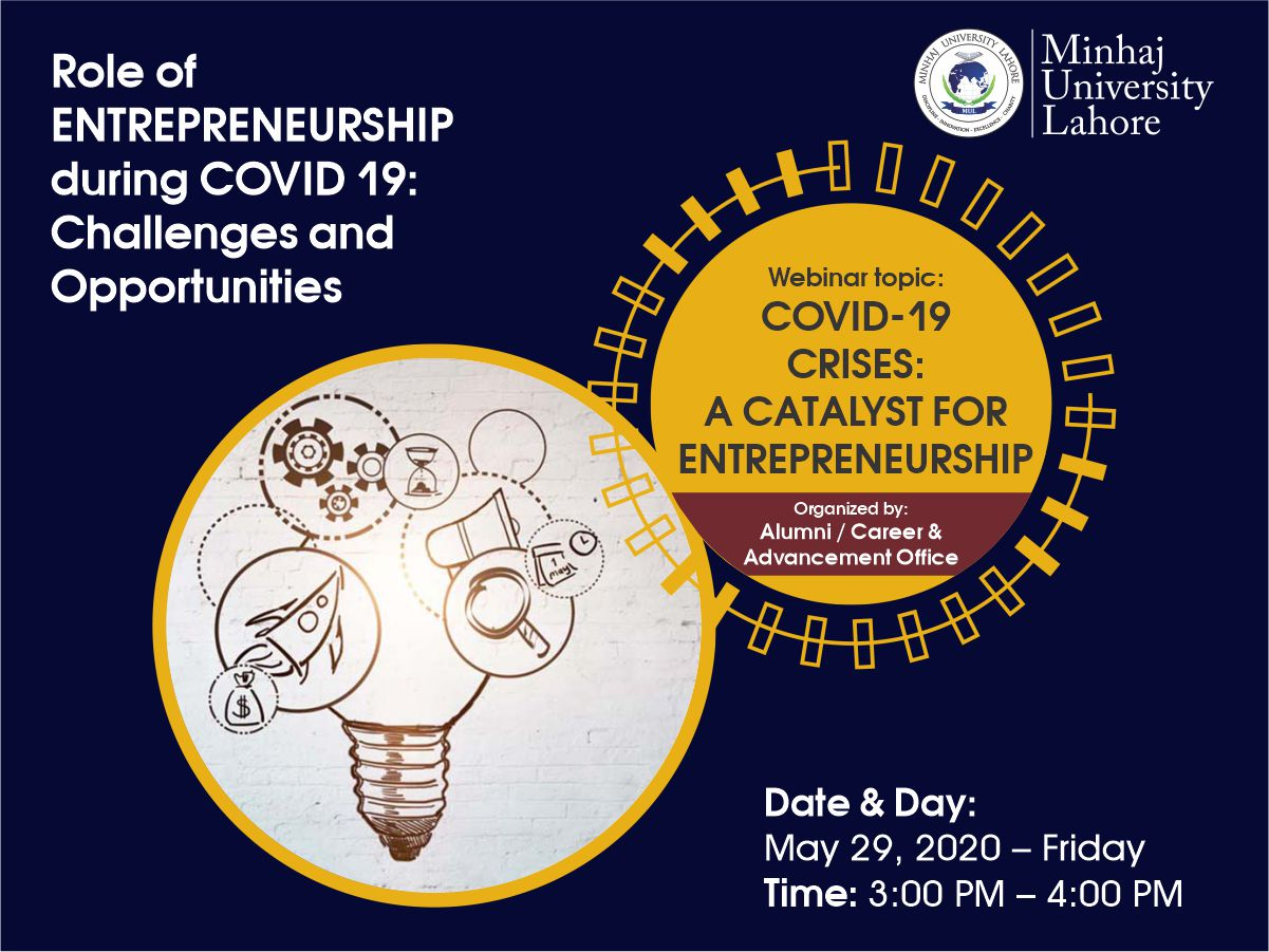 Covid-19  Crises:  A Catalyst For  Entrepreneurship