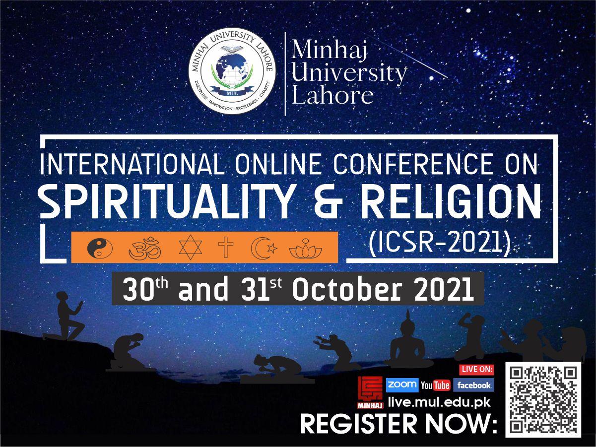 INTERNATIONAL ONLINE CONFERENCE ON SPIRITUALITY & RELIGION