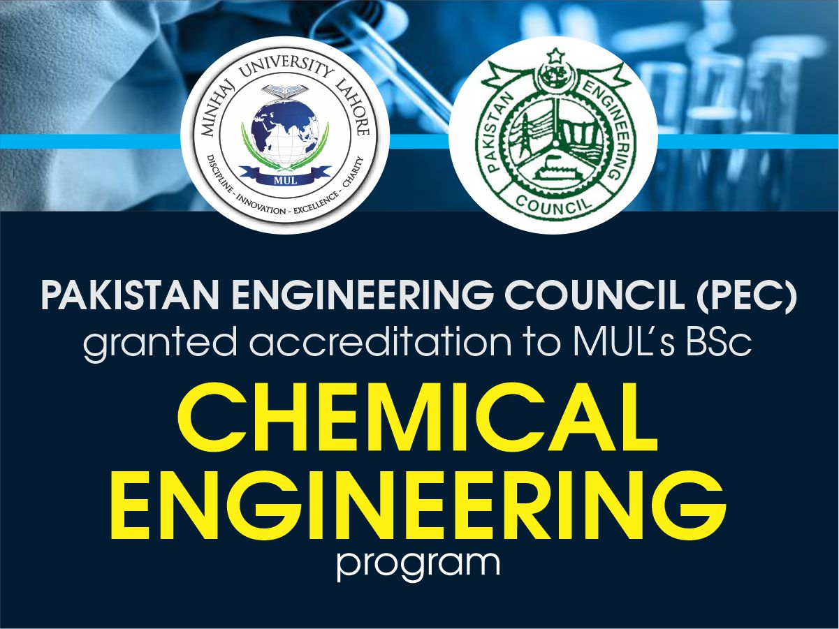 PEC granted accreditation to MUL's BSc Chemical Engineering program
