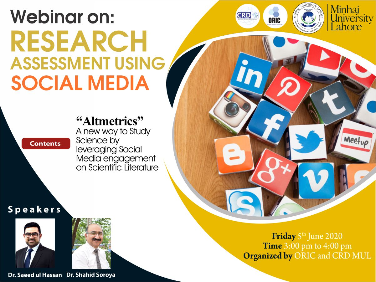Research Assessment using Social Media