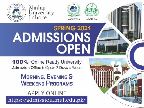 Admissions Open Spring 2021