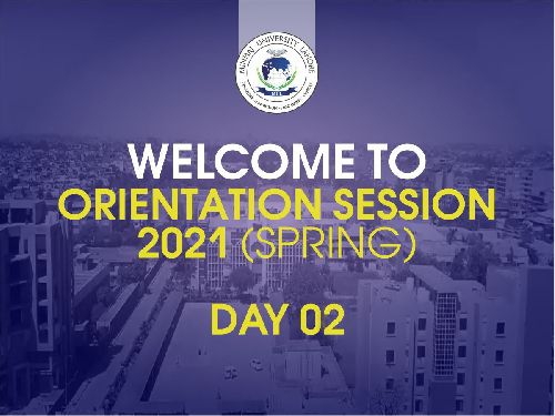 Orientation Sessions {Spring 2021) | Day 02