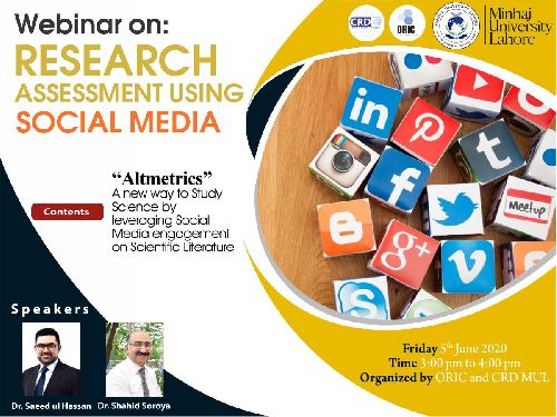 Research Assessment using Social Media