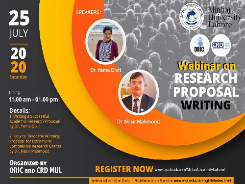 Webinar on Research Proposal Writing