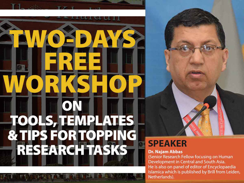 Two Days Free Workshop On Tools , Templates & Tips for Topping Research Tasks