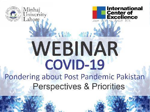 Webinar | COVID-19 Pondering about Post Pandamic Pakistan