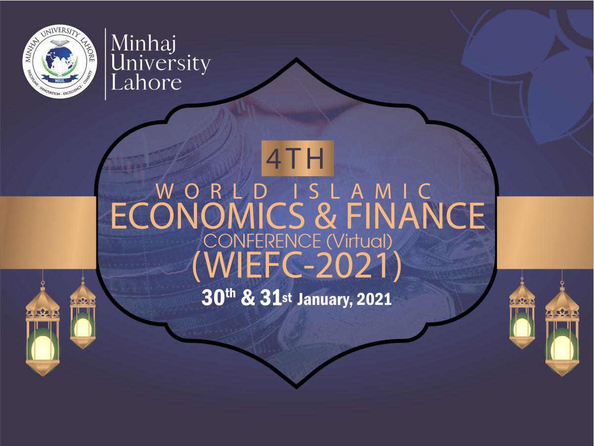 4th World Islamic Economics & Finance Conference (Virtual)
